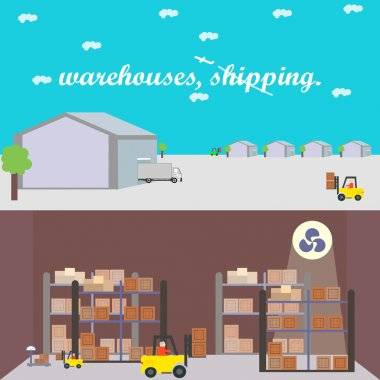 warehouse, freight, shipping, hangar