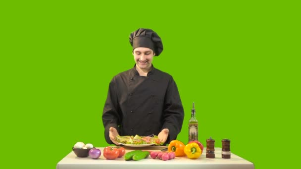 Chef On Green Background