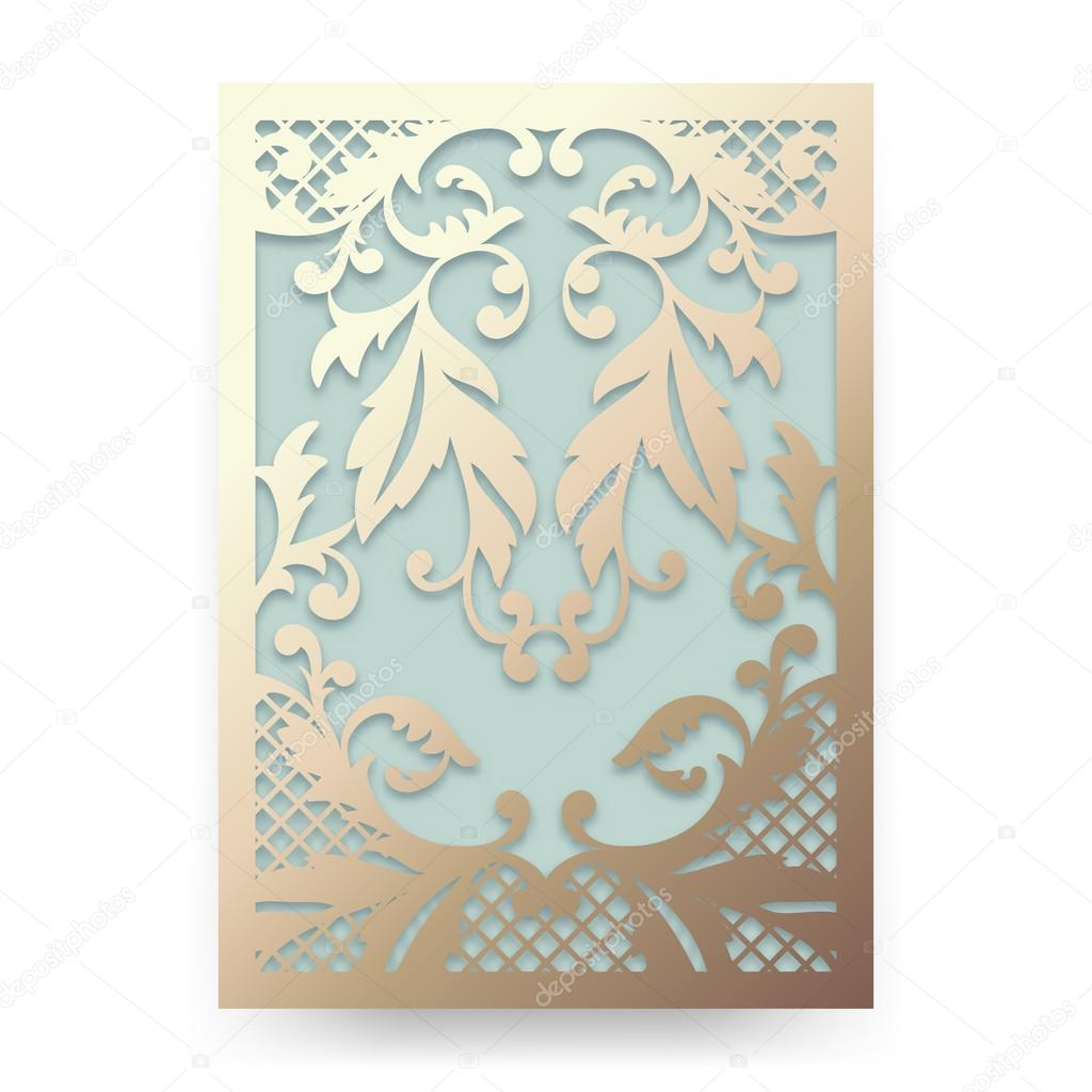 Beautiful wedding invitation with abstract floral ornament. Garden ...