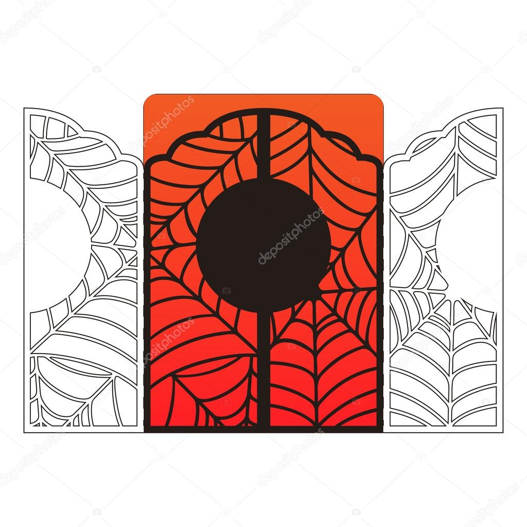 Laser cut halloween vector invitation card template spider web lace laser cut halloween vector invitation card template spider web lace with place for text stopboris Images