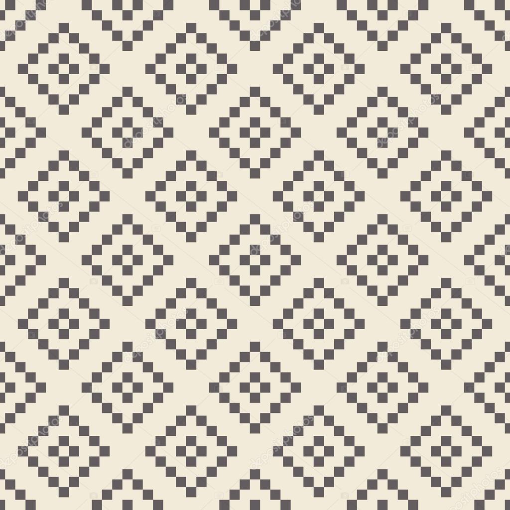 Pixel rombo de patrones sin fisuras — Vector de stock © Yorri #90976230