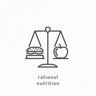 Rational nutrition icons