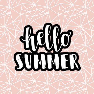 Hello summer hipster boho chic design