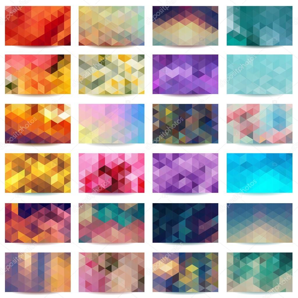 Geometric patterns set.
