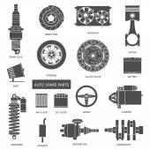 Fotografia set di pezzi di ricambio auto
