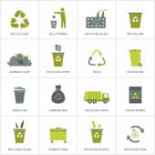 Fotografie Recycling garbage icons set.