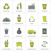 Fotografia Icone di riciclaggio dellimmondizia