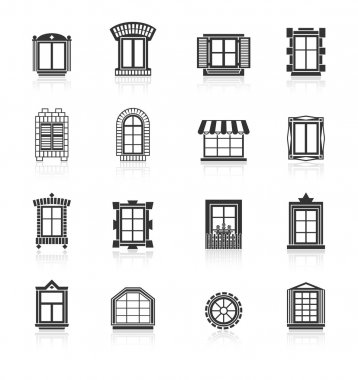 Vintage windows set