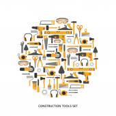 Stavební nástroje ikony set