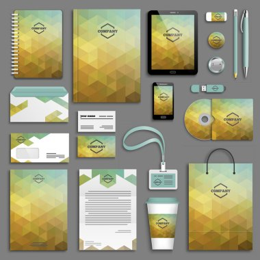 Corporate identity template set