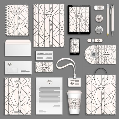 Corporate identity templates set