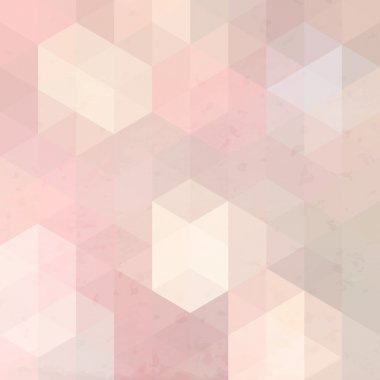 Pink geometric retro background