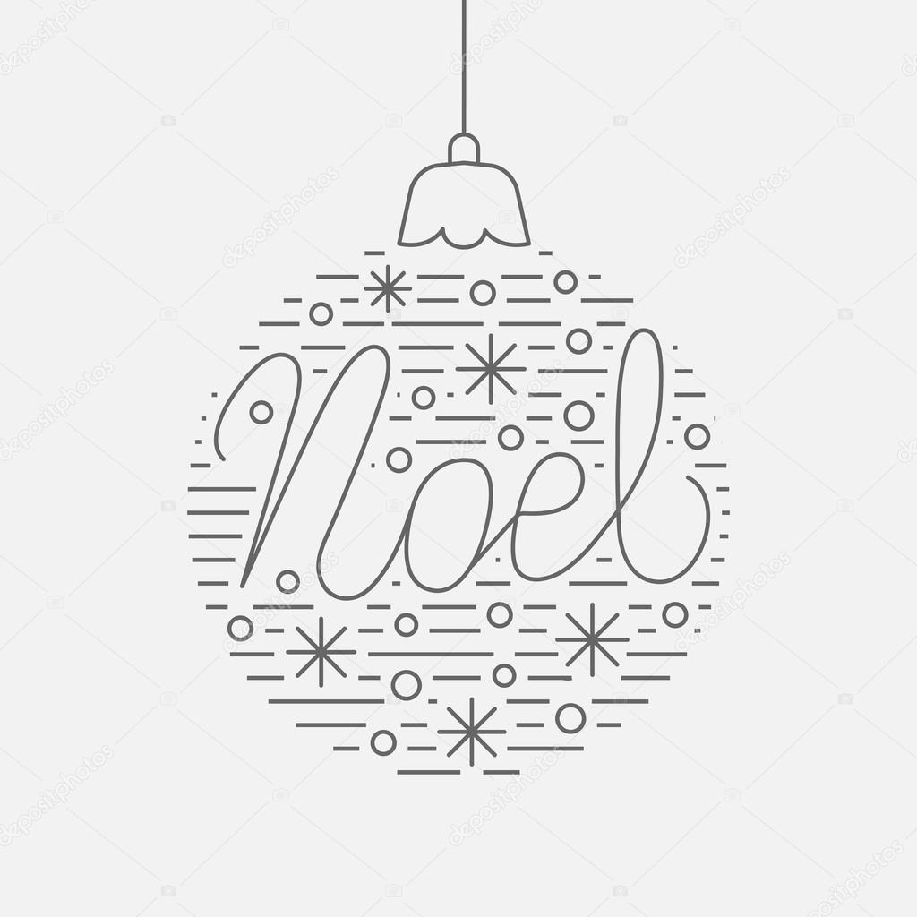 Gruß Weihnachtskarte mit Dekor Ball — Stockvektor © OlhaKostiuk ...