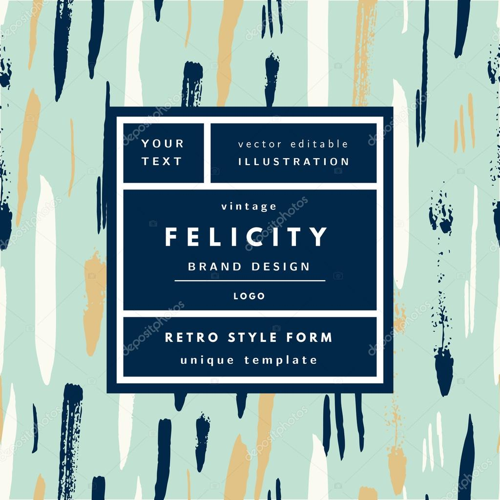 Felicity Design felicity retro label package template stock vector olhakostiuk