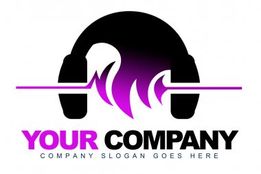 Headphones Music Logo