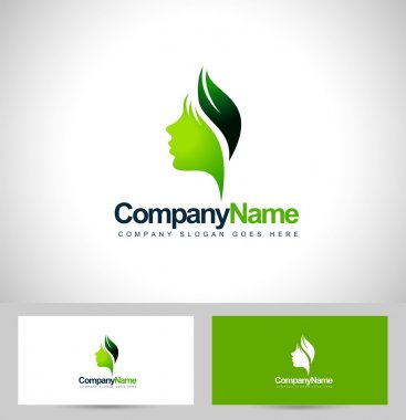 Leaf face logo vector
