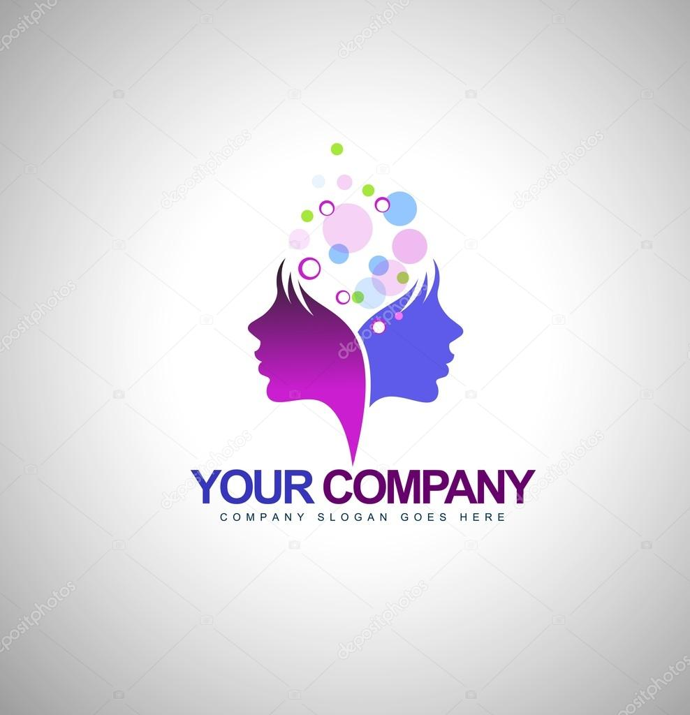 Beauty Female Face Logo Stock Vector C Twindesigner 66981945