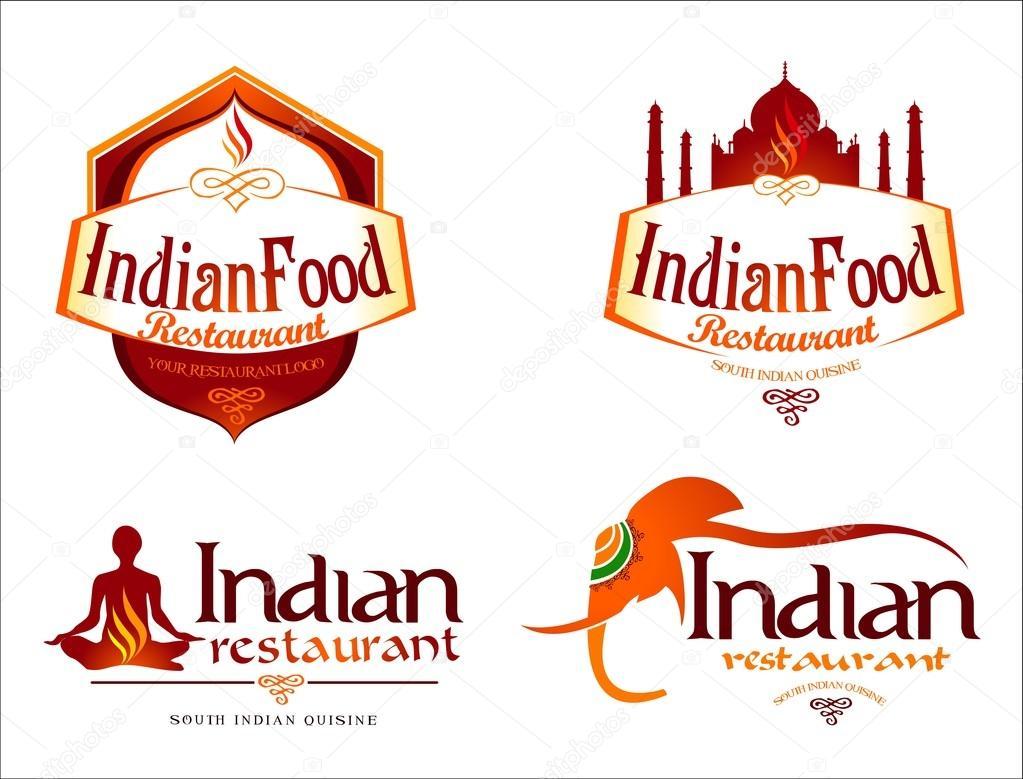 logotipo de la comida indio — Archivo Imágenes Vectoriales ...