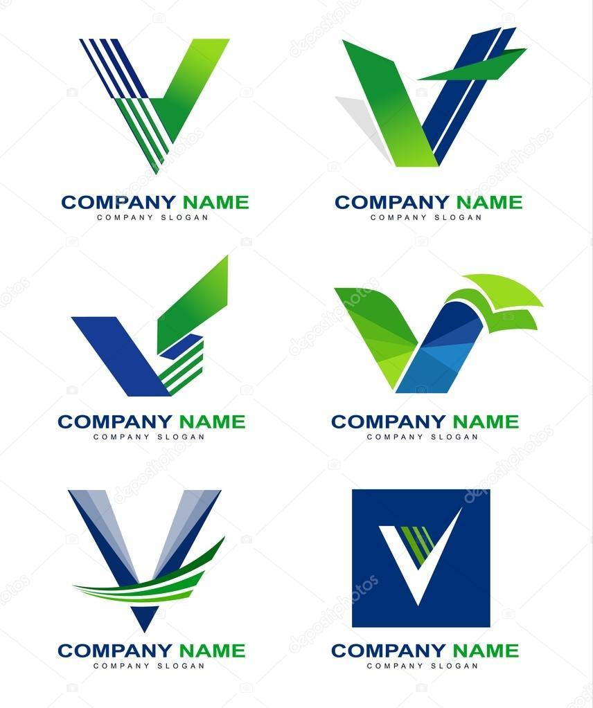 Colorful Letter V Logo:  Letter V Logo Design Stock Vector Twindesigner #66982879
