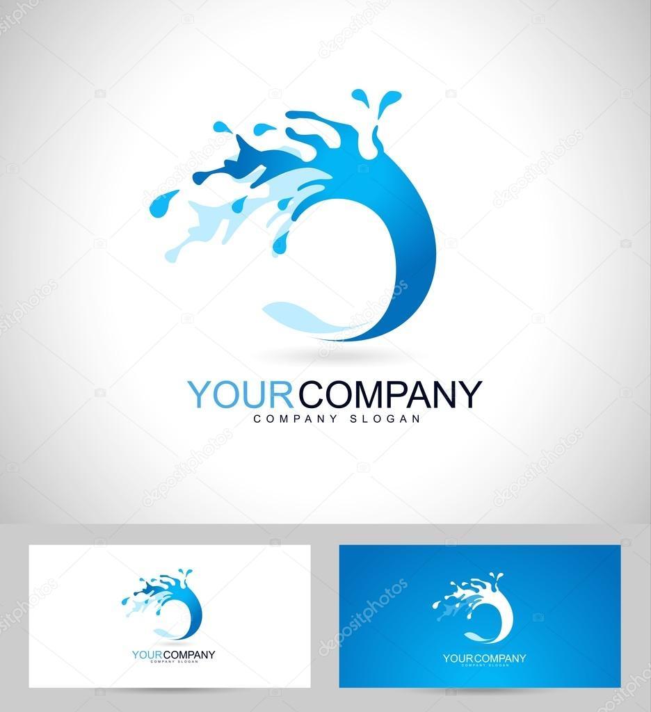 Water Logo Design — Stock Vector © twindesigner #66982895