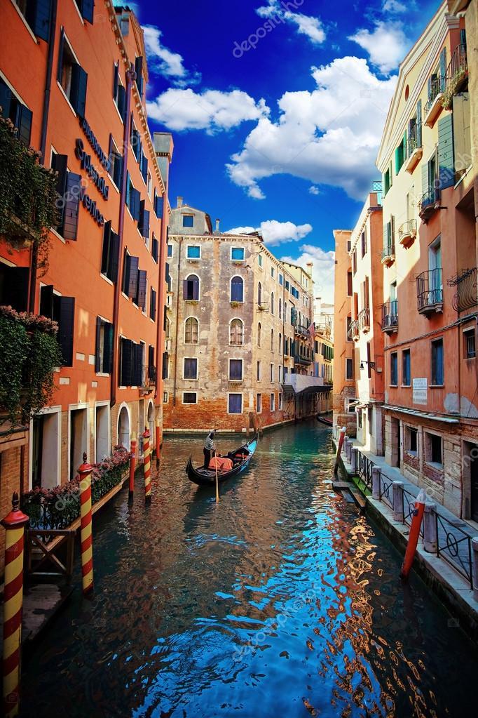 Venice Canal and Gondola