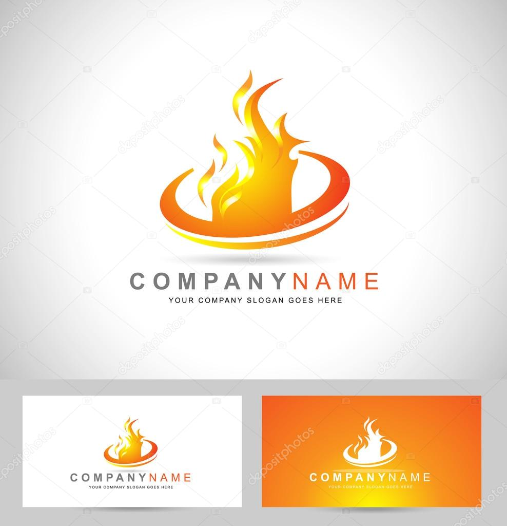chama de fogo logo � vetores de stock 169 twindesigner 73306497