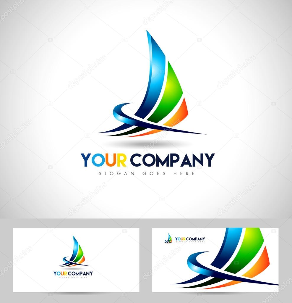 Corporate Abstract Concept Design. Sharp design swashes and business card template. clipart vector