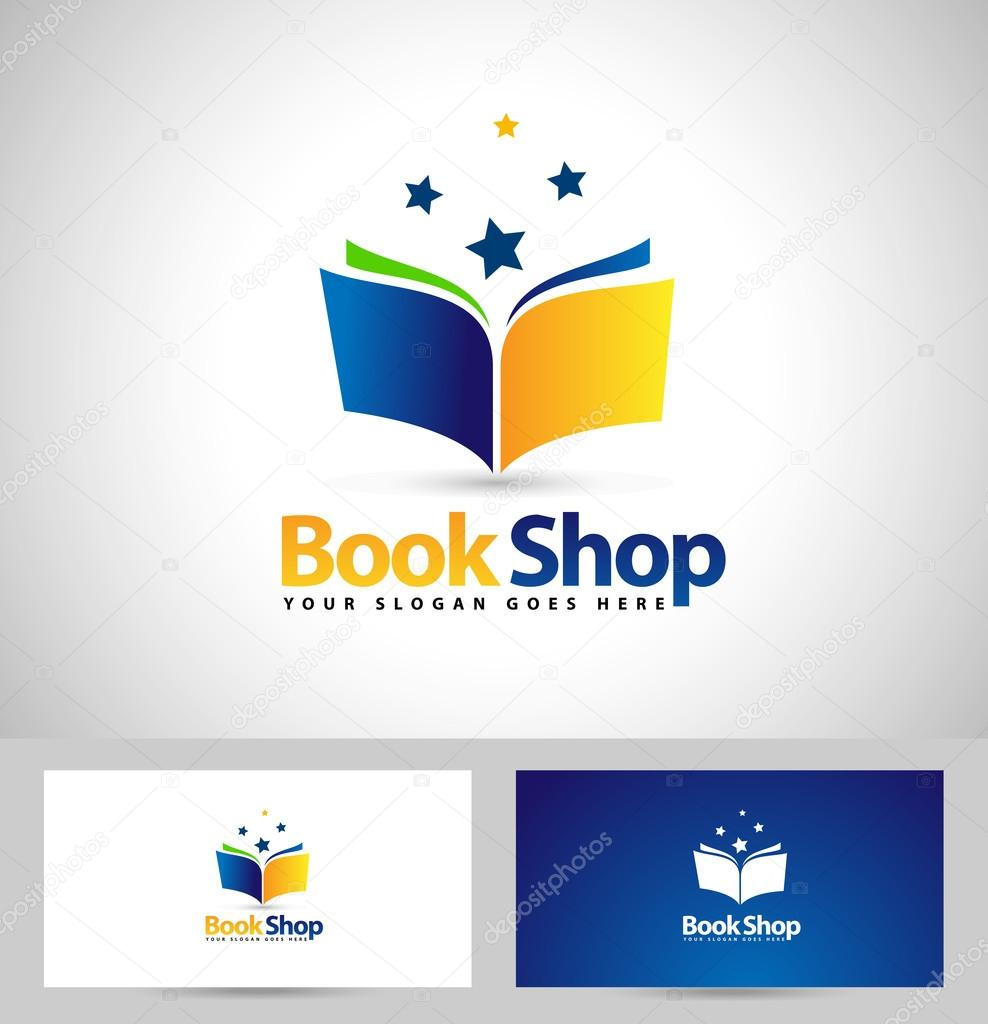 Book logo book shop icon stock vector twindesigner 77061233 book shop logo design creative book icon design and business card template vector by twindesigner reheart Image collections