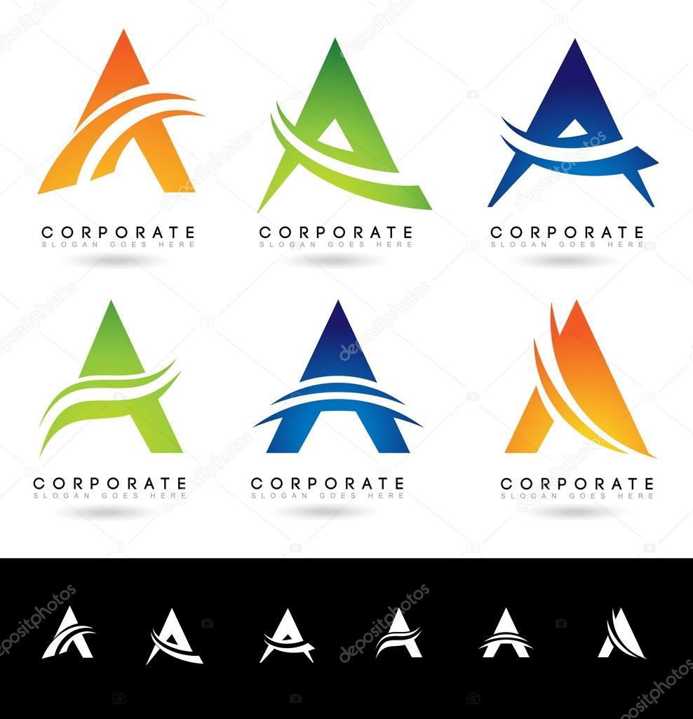 Letra A Logotipo Desenhos Vetores De Stock