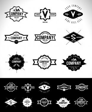 Retro Vintage Logo Set