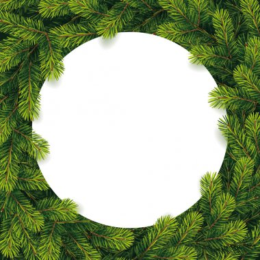 Paper for christmas list on a pine branches