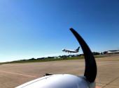 Ryanair Boeing 737 startet vom Flughafen Memmingen in Deutschland 21.8.2020