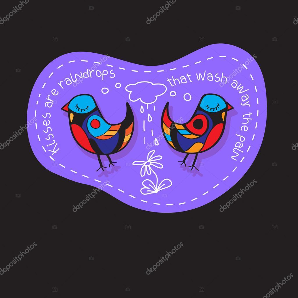 Verliebte Paar Vogel Grosse Abbildung Fur Grusskarten Einladung Zur