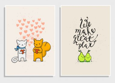 Posters with funny phrases about love