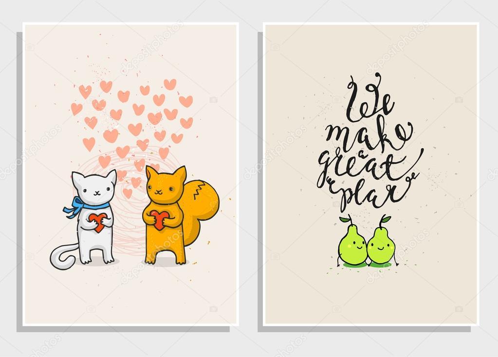 Vector Frases Amor Carteles Con Frases Divertidas De Amor