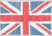 Fotografia Bandiera inglese disegnata a mano
