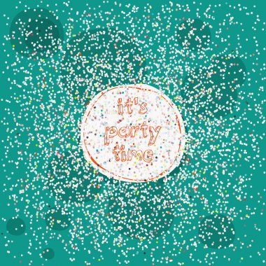 Colorful confetti, vector illustration clip art vector