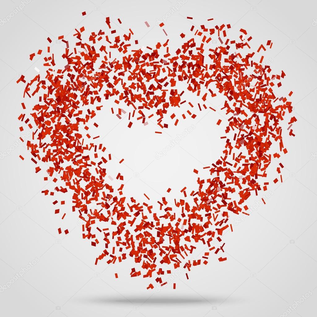 Hergestellt aus roten Konfetti Herzen — Stockvektor © VectorStory ...