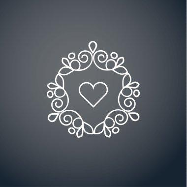 Heart art logo