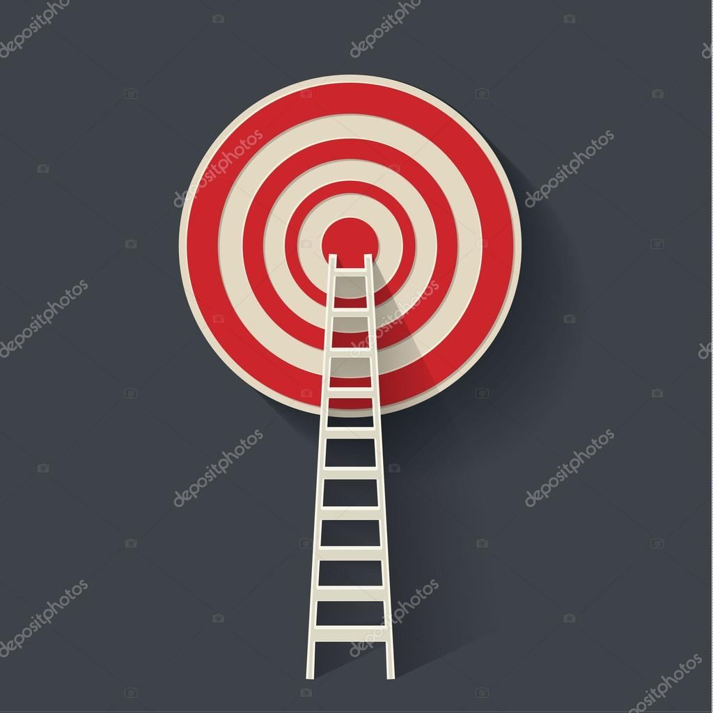 Ladder to the red target