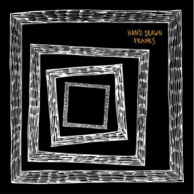 Doodle framework on black