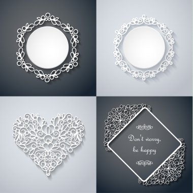 Paper decor with shadow set