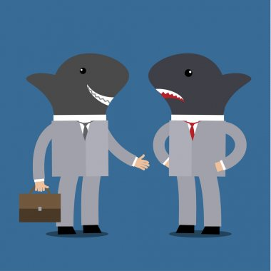 Concept of business sharks