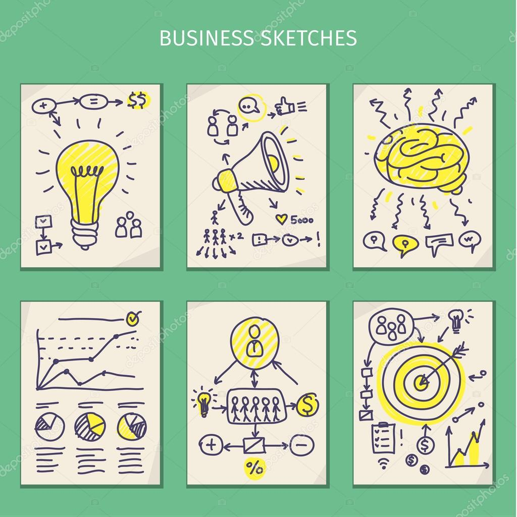 Concepts of idea. Sketches