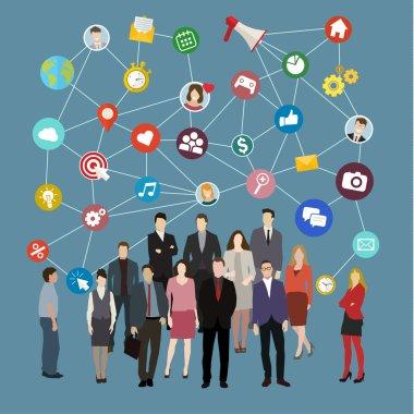 Social network concept.