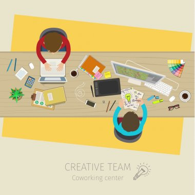 Concept of creative teamwork