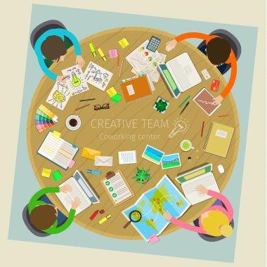 Concept of creative teamwork