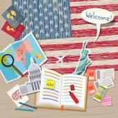 Fotografia Concetto di viaggio o di studiare linglese