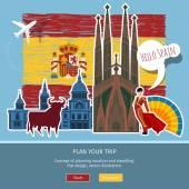 Utazási vagy tanul spanyol fogalma