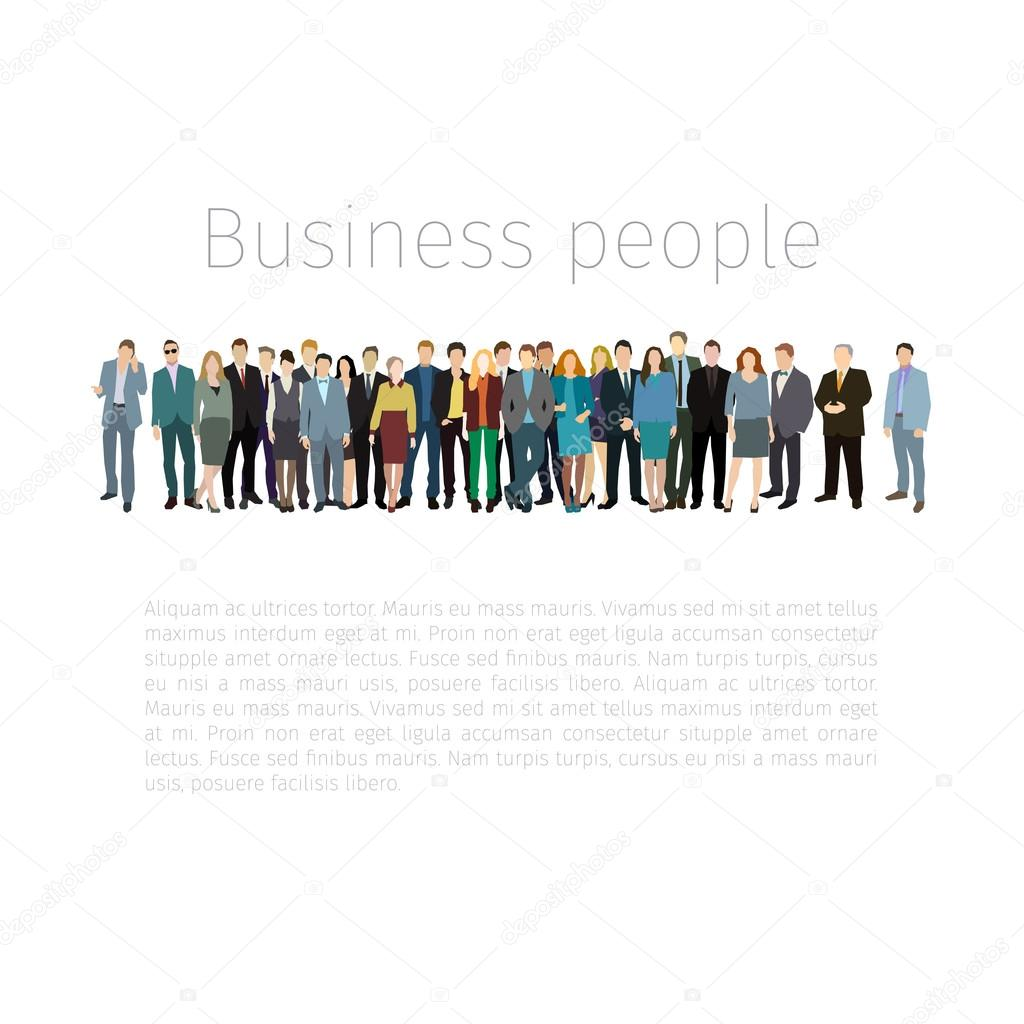 Group of people standing in a row